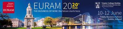EURAM 2020 conference in Dublin (Call for papers)